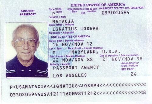 Passport Ignazio Joseph Matacia