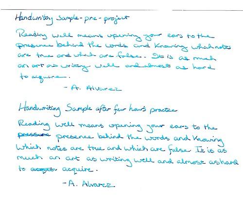 handwriting samples