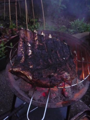 Pork Ribs on the BBQ