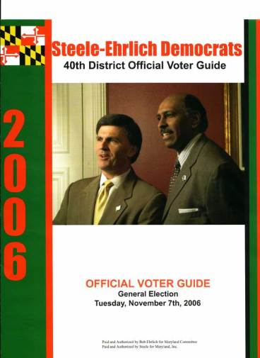Michael Steele Sample Voter Guide Image