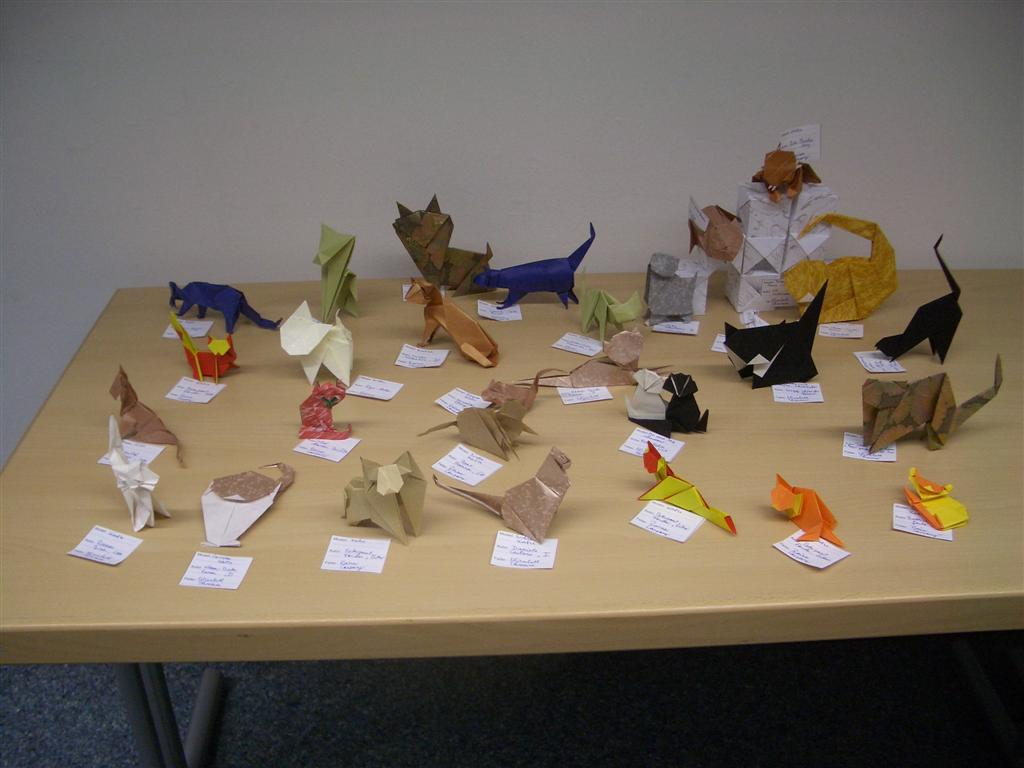 Cats from different origami designers