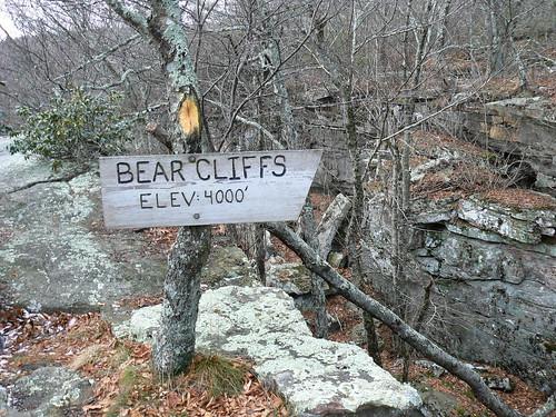Bear Cliffs - Summit Sign
