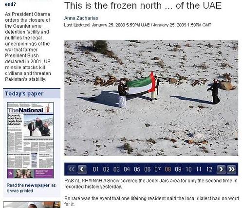 UAE Snow