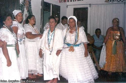 Com sua primeira mãe de santo, Mãe Nazaré de Iemanjá; em Salvador