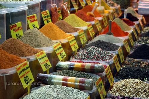 Spices, Spice Bazaar, Istanbul, Turkey