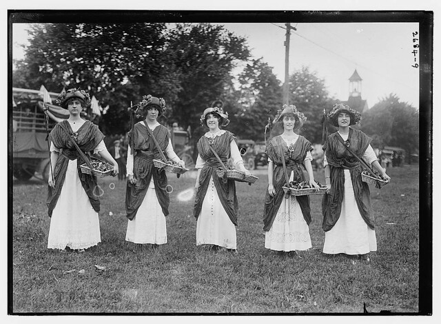 Suffrage Pageant - flower girls  L.I., N.Y. (LOC)
