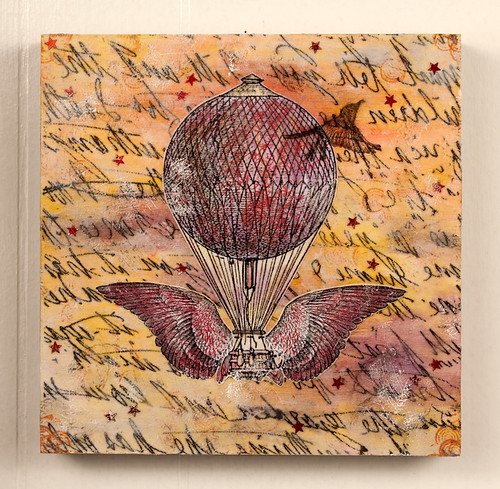 Mixed Media Collage - On wings we fly