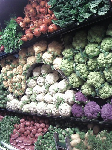 A rainbow of cauliflower
