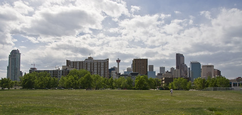 View of Downtown Calgary from Fort Calgary