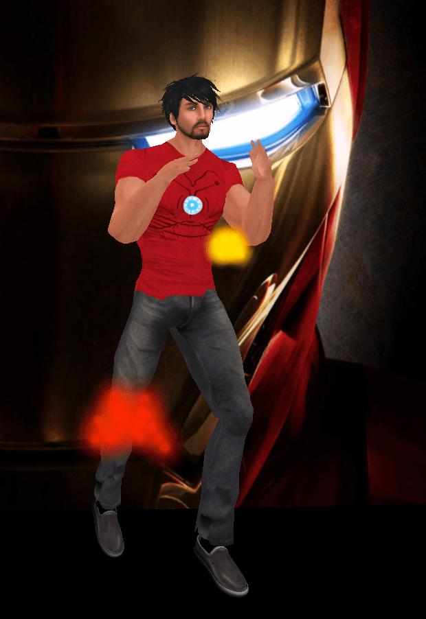 aRAWRa Iron Man T-shirt