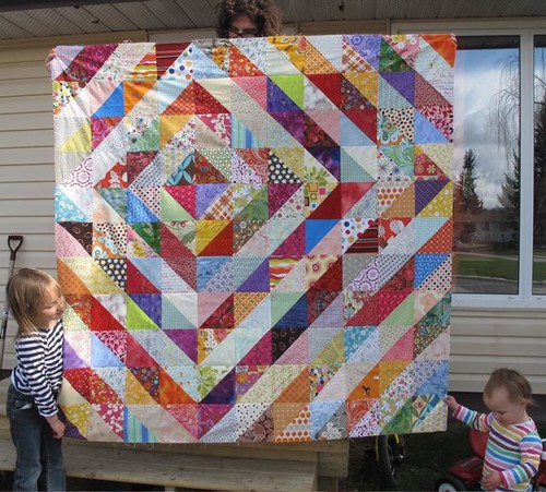 values quilt top