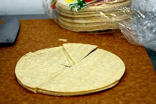 corn tortillas, wedges
