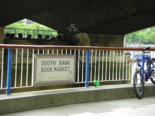 Under Waterloo Bridge is this daily book market.