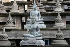 Buddhas at Gangaramaya Buddhist Temple in Colo...