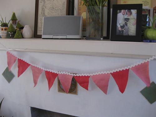 valentine's pennant banner