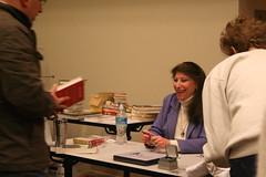 Dr. Pepperberg Signs Autographs