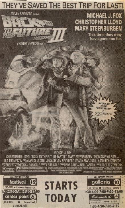 BTTF 3 poster