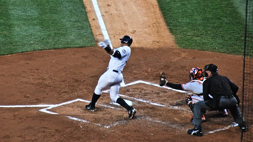 Alex Rodriguez Delivers a Home Run Against the Orioles
