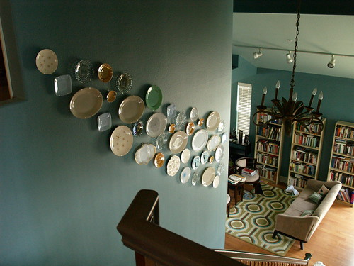 Plate Wall Top of Stairs