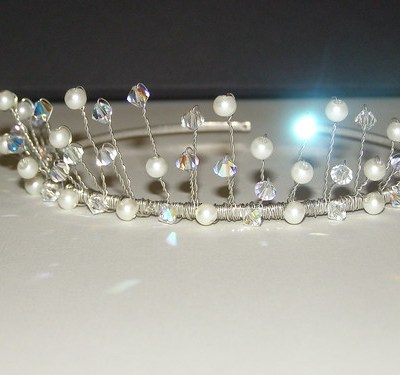bridal tiaras_crystal and pearl tiaras_wedding jewelry_swarovski bridal tiara_pearl bridal tiara