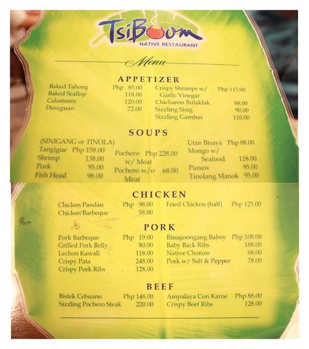 Filipino Restaurant in Cebu Philippines- Tsiboom