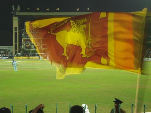 Sri Lankan flag inverse.