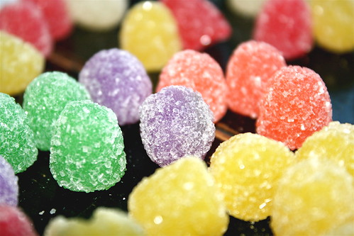 rainbow of gumdrops.