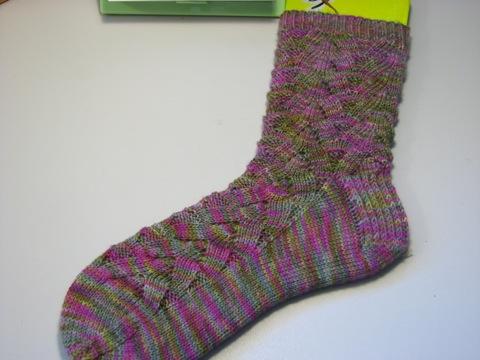Spring Monkey Sock 1