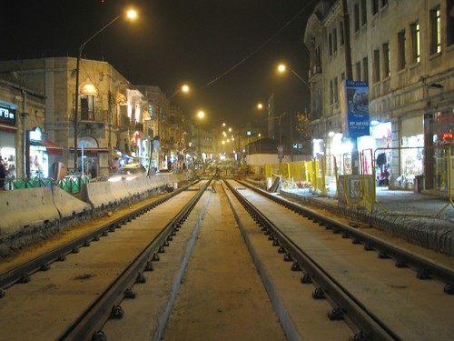 Light Rail Construction, Jerusalem