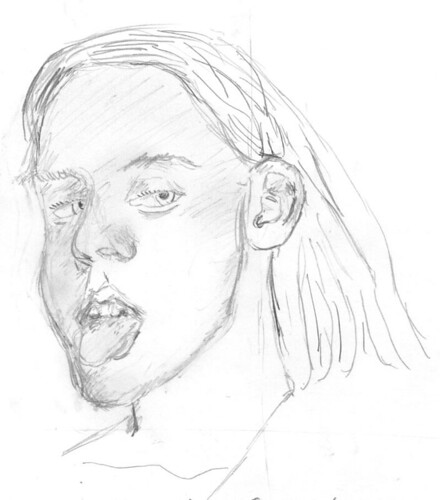 Drawing Unknown Faces, part 165, sketch 1