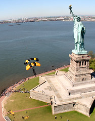 The Golden Knights land at Statue of Liberty i...