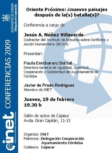 Conferencia Jesus Nuñez presenta Paula Estebaranz.