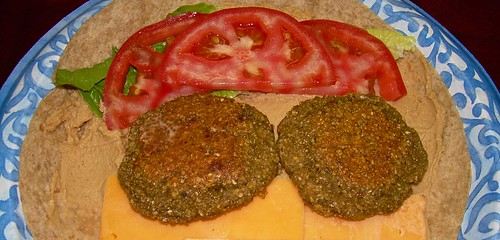 Hummus and Falafel Wrap