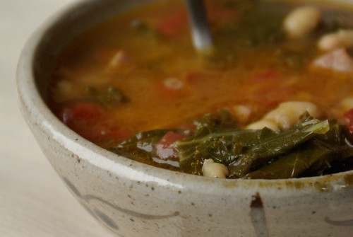 kale-cassoulet soup