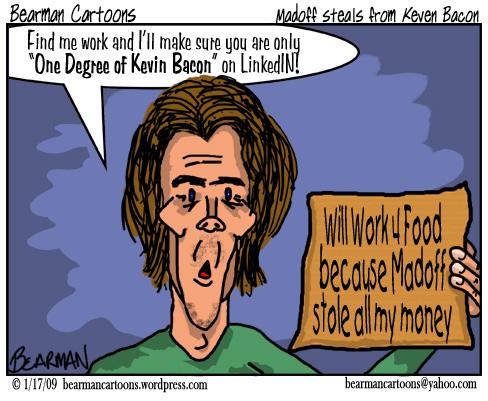 110 09  Bearman Cartoon Kevin Bacon victim of Bernard Madoff