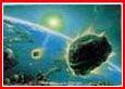 Ilustrasi ini menunjukkan meteor yang hendak menghunjam ke Bumi. Objek-objek luar angkasa yang berkeliling di tata surya, dapat menimbulkan ancaman serius bagi Bumi. Hanya Allah S.W.T yang menciptakan segala sesuatu dengan sempurna, telah menciptakan atmosfer sebagai atap pelindung. Bersyukurlah kita terhadap perlindungan khusus ini, sehingga sebagian besar meteor tidak menimbulkan kerusakan di Bumi, karena telah hancur berkeping-keping di atmosfer.