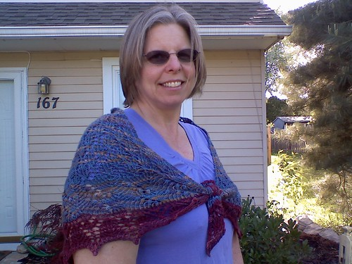 Mom and her shawl closer
