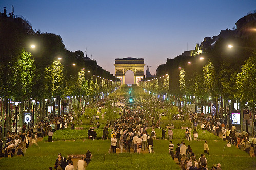Nature capital Paris Champs Elysees at Night