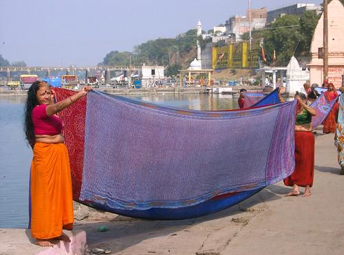 Saris en Ram Ghat