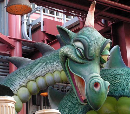 World of Morion Dragon was at Disney's California Adventure backlot