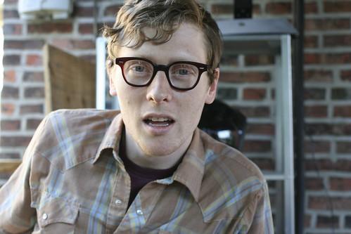 wearing adam's work glasses