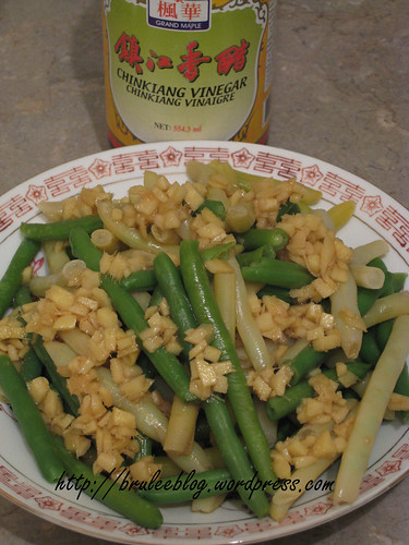 Haricots verts in ginger sauce