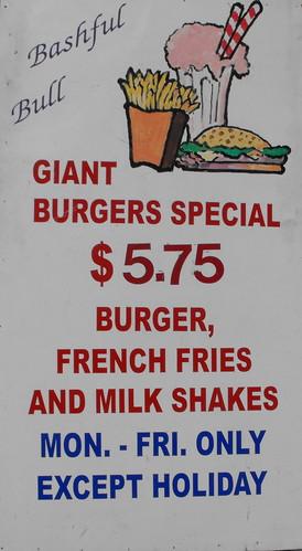 Bashful Bull Burger Special 1