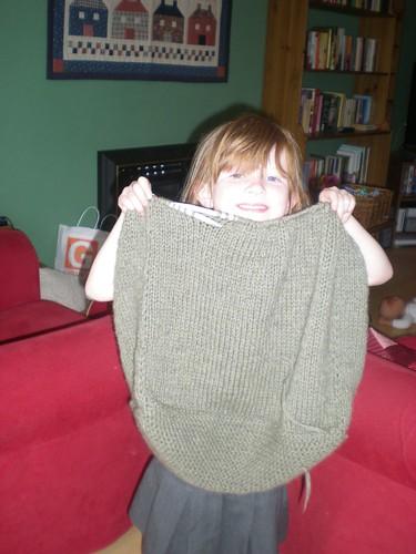 Progress on my Constant Companion Felted Bag - Prefelting!