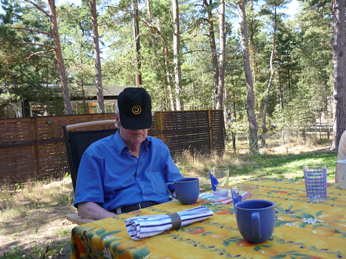 My grandfather in my brother's cap