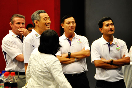 Prime Minister Lee enjoying the performances