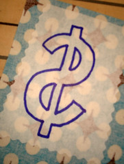 Money bag - fused dollar