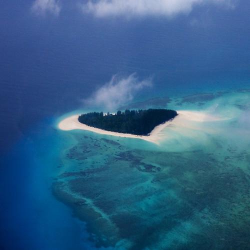 Heart island? Mnemba Island Tanzania by Eric Lafforgue.