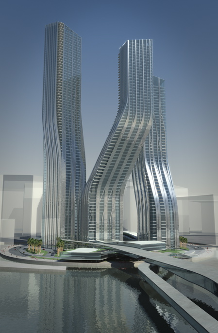 Dubai Dancing Towers by Zaha Hadid