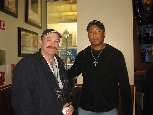 Capt. Keith with Former NY Yankee Center Fielder Bernie Williams who also attended the Grand Opening.